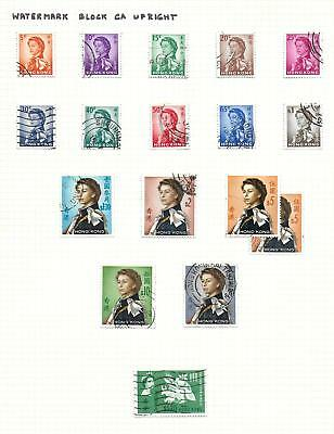 Hong Kong stamps 1962 Collection of 17 stamps HIGH VALUE!