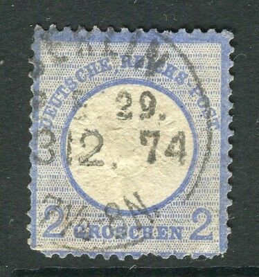 GERMANY; 1872 early classic Shield issue used 2g. value fair Postmark