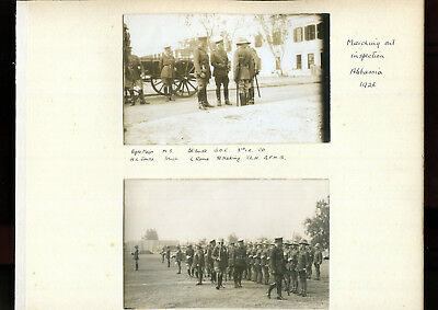 Egyptian Uprising 1926 Photographs Marching out Inspection Abbassia Cairo