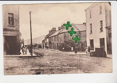 Postcard ; View Of Chapel Street And Corner Houses, Carndonagh