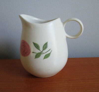 Vernon Ware Rose-A-Day Creamer Pink Flower Metlox Mid Century USA Pottery