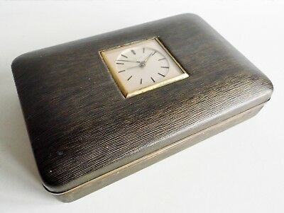 Rare & Unusual Mid-Century Box Which Features A German Kienzle Clock In The Lid