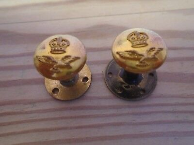 MILITARY. BUTTONS,   ROYAL AIR FORCE,  KINGS CROWN SHOULDER BOARD 15mm