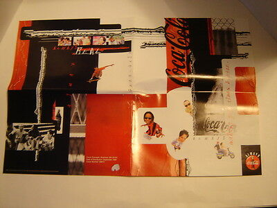"""Two 1998 Coca Cola Making Good Times Better 15"""" X 22"""" Book Covers Posters"""