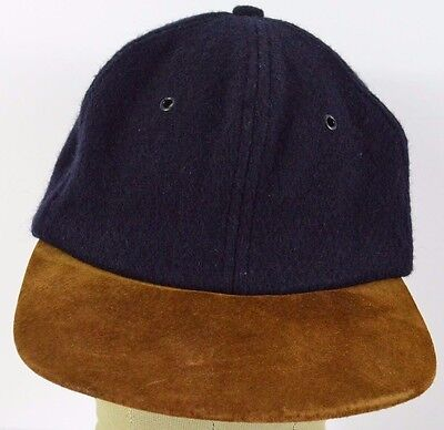 Navy Blue American Eagle outfitters blank wool baseball hat cap adjustable  strap d0e655e8fe9