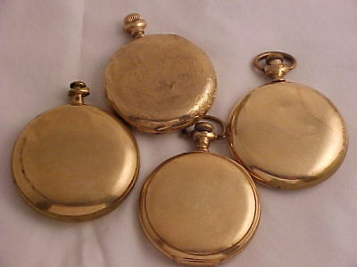 165 Grams 20 Year + Gold Filled Pocket Watch Cases