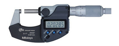 "New Mitutoyo 293-340-30, 0-1"" Digital Micrometer, Ip65, .00005"", Coolant Proof"
