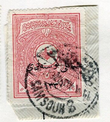 TURKEY; Early 1900s fine used Fiscal 5Pi. value