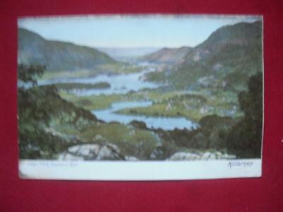 1904 Lakes from Kenmare Road Killarney Antique Coloured Postcard