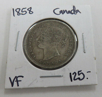 1858 Canadian 20 cent VF