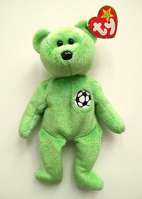 Ty Beanie Baby VERY RARE KICKS BEAR Collectible with Multiple Errors 1998