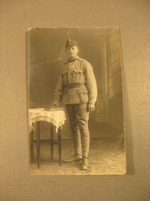 Soldat in Feldgrau.Privatpostkarte 1.WK.ca.1916-Antic Soldier 1.WK