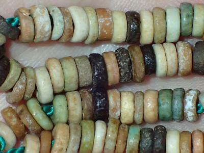 75 Ancient Egyptian Faience Mummy Beads, 3000+Years Old, 4.5-5.5mm, #A9075