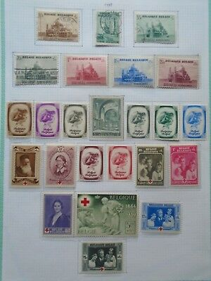 1930S Lot Sets Vf Mlh Vf Mnh Belgium België Belgique B54.12 Start 0.99$