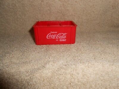 "Coca-Cola Vintage Miniature Coke Bottle Crate, holds 6--3"" Mini Bottles"