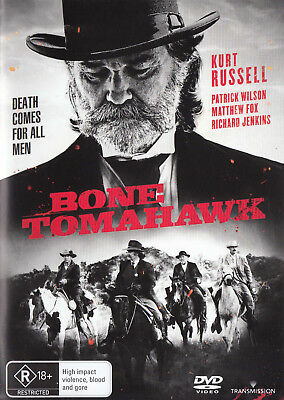 BONE TOMAHAWK Kurt Russell DVD R4 - PAL - New      SirH70