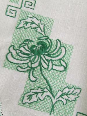 Beautiful Hand Embroidered Centre - Australian Grevillea - Crocheted Edging