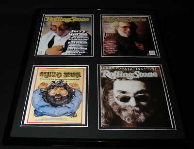 Jerry Garcia The Grateful Dead 16x20 Framed Rolling Stone Cover Display