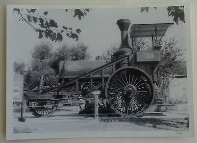 5 x 7 BW Photo of Best Steam Tractor 185 taken at California State Fair 1980