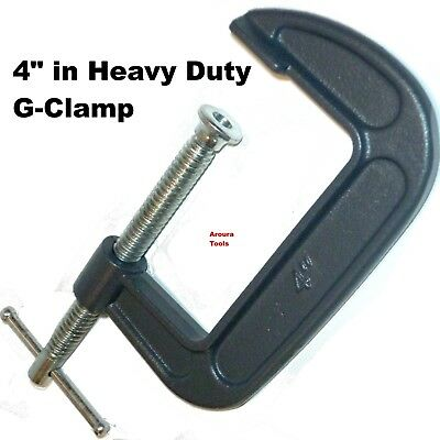 G CLAMPS 100mm (4 INCH) -Heavy Duty STEEL -   BRAND NEW.