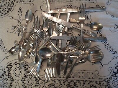 37 Pc. Craft  Lot,  Silver Plate , Attn. Dealers, Nice pieces--NO JUNK!