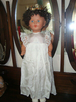 "Rare Vintage Frank Popper ENGLAND  "" Coronation""  musical / talking 28"" doll"
