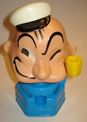 Vintage POPEYE BANK GUMBALL MACHINE 1968 HASBRO   Excellent!    Flesh Color Face