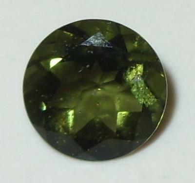 1.96ct Faceted Natural Czechoslovakia Moldavite Round Cut 9mm SPECIAL