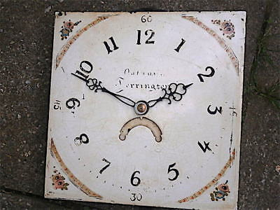 11X11 inch 30hr c1800 LONGCASE  CLOCK dial + movement