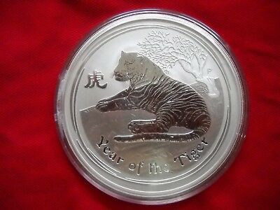 2010 Australia full 10 ounce .999 Silver Lunar Series II Year of the Tiger