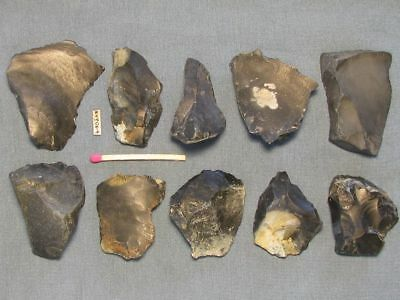 10.000Y.o:10 Danish Artifacts Stone Age Early Mesolithic Flint Maglemose Culture