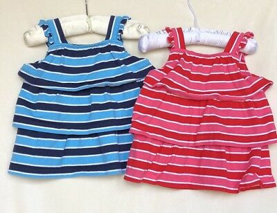 Hanna Andersson Lot Of 2 Ruffle Tops Size 80 (2T)