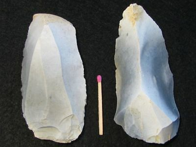 60.000Y.o:great 2 Large Tools Neanderthal Stone Age Paleolithic Mousterian Flint