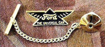 Model T Ford Tie Tack with Chain Clasp