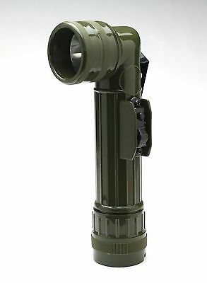 Flashlight GI Army Style C Cell Angle Head Flashlight - Olive Drab 2 X C Cell