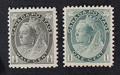 CKStamps: Canada Stamps Collection Scott#74 75 Victoria Mint NH OG