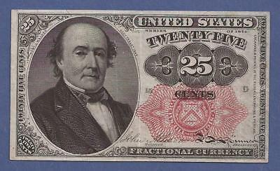 1874-1876 5th Issue 25¢ Fractional Currency,FR. 1308,Walker Bust,crisp XF,Nice!