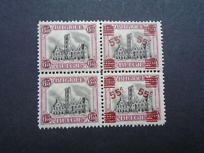 Combination 65C With+Without Surcharge Block Belgium België Vf Mnh 200.25 0.99$