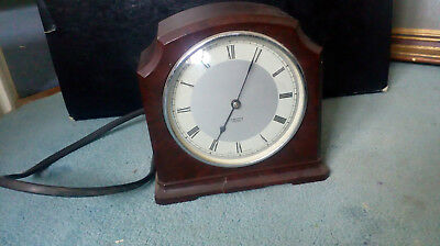 Vintage Smith Sectric Electric retro mantle table bakelite clock 14x14x6.5 cm