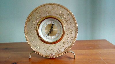 Charming 1950's Grace Bedside Mantle clock - Made in Germany 115mm diameter