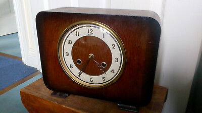 Vintage BENTIMA MANTLE CLOCK 8 Day Action With Key