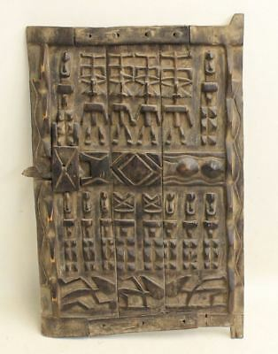 Authentic Mali Granary Door West African Dogon Tribe Traditional Craft 63x43cm