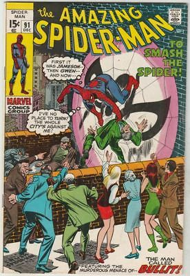 Amazing Spider-Man # 91 Strict VF/NM Appearance Captain Stacy, Gwen's Dad