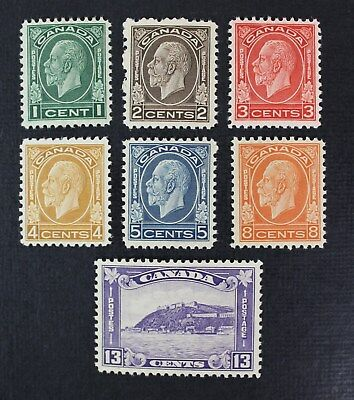 CKStamps: Canada Stamps Collection Scott#195-201 Mint 3NH 4H OG