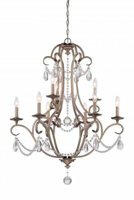New Designers Fountain Gala 9 Light Chandelier Argent Silver Finish 86089-ARS