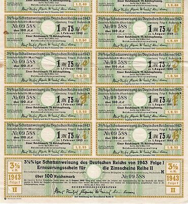 Bond Germany Reich Coupon 1922 1000 Inflation Berlin
