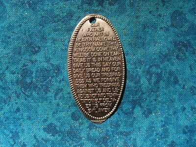 OUR FATHER WHO ART IN HEAVEN LORDS PRAYER COP Elongated Penny Pressed Smashed 24