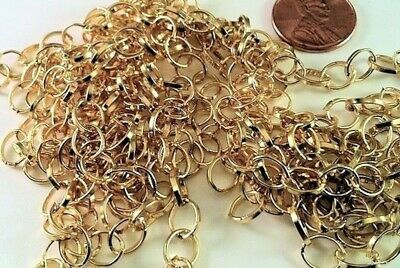 """72"""" Gold Plated Steel ROLO Bulk Chain with 8x7mm Links *"""