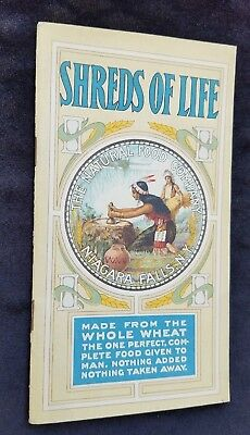 Old Advertising Booklet SHREDS OF LIFE Natural Food Niagara Falls Shredded Wheat