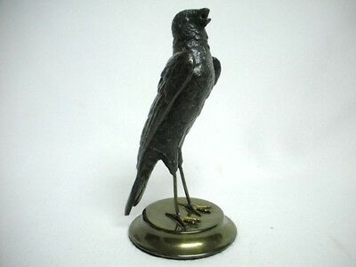 Vintage PETITES CHOSES Metal Singing FINCH BIRD Figurine 1985 Korea